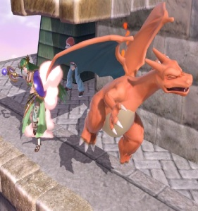 Palutena vs Charizard Super Smash Bros ultimate Nintendo Switch kid icarus