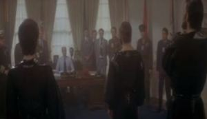 General zod vs the president of the United States Superman II 1980