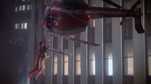 Superman saves Lois Lane from helicopter fall Superman 1978