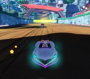Rogue driving dirt track Team Sonic Racing Nintendo Switch Xbox One PS4 Sega