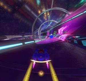 Shadow using rocket boost Team Sonic Racing Nintendo Switch Xbox One PS4 Sega
