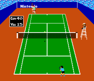 Singles match Tennis NES Nintendo