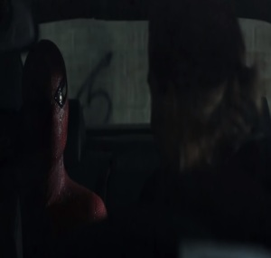 Spider-man in the back seat The Amazing Spider-Man Andrew Garfield