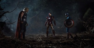The Avengers thor vs captain America and iron man