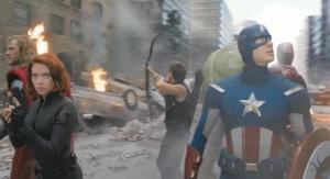 The Avengers battle for new york captain America black widow Hawkeye