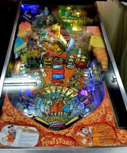 The Flintstones pinball board