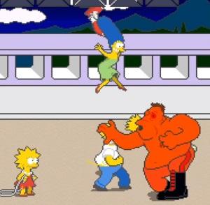 Maggie Simpson lisa Simpson marge Simpson The Simpsons Arcade Konami