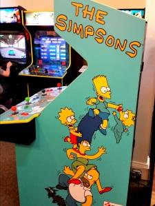 The Simpsons Arcade Konami cabinet