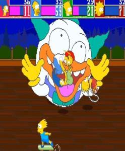 Krusty the klown balloon The Simpsons Arcade Konami