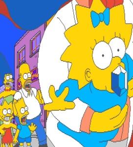 Maggie Simpson kidnapped The Simpsons Arcade Konami