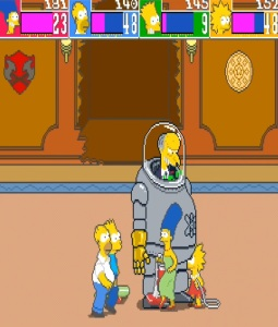 Mr Burns The Simpsons Arcade Konami