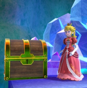 Treasure chest The Great Cave Offensive Stage super Smash Bros ultimate Nintendo Switch kirby