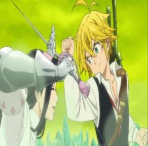 The Seven Deadly Sins anime nanatsu no taizai meliodas blocks blow from Guila