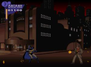 Batman vs gangster The Adventures of Batman and Robin snes Konami DC comics