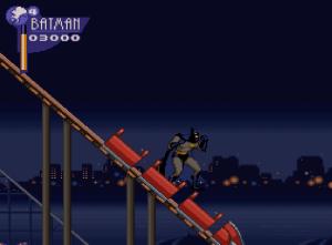 Roller coaster ride The Adventures of Batman and Robin snes Konami DC comics