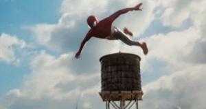 The Amazing Spider-Man 2 Peter Parker web slinging through new york city