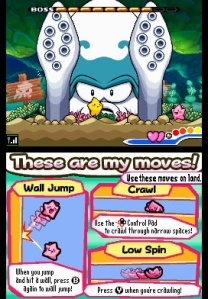 Giant squid boss The Legendary Starfy Nintendo DS