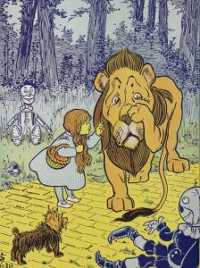 Dorothy Gale meets cowardly lion book version