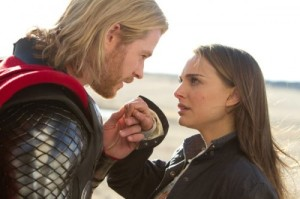 Thor 2011 Jane Foster meets the real Thor Chris Hemsworth Natalie Portman Tom Hiddleston
