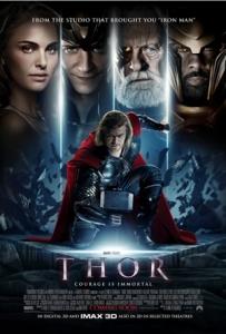 Thor movie poster Chris Hemsworth Natalie Portman Tom Hiddleston