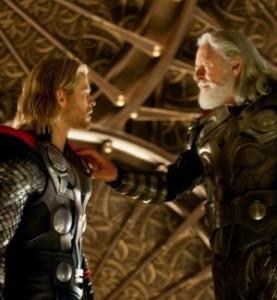 Thor 2011 thor is banished by his father Odin Chris Hemsworth Natalie Portman Tom Hiddleston Anthony Hopkins