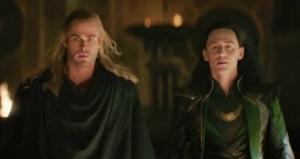 Thor: The Dark World Thor and Loki vs dark elfs Chris Hemsworth tom Hiddleston