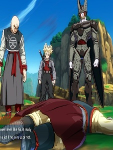 Tien defeated by clones dragon Ball FighterZ Nintendo Switch Xbox One PS4