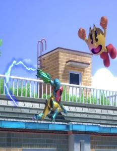 Samus Aran vs Pac-Man Tomodachi life stage super Smash Bros ultimate Nintendo Switch
