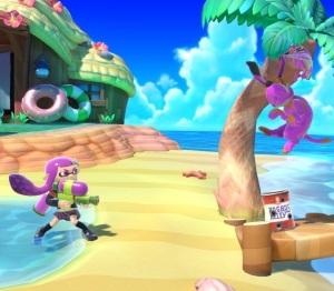 Inkling vs duck hunt Tortimer Island super Smash Bros ultimate Nintendo Switch animal crossing