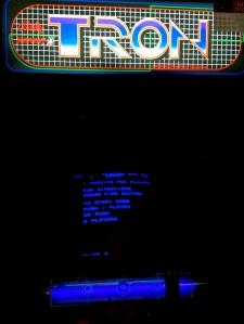 Tron arcade machine