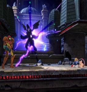 Samus vs Ness Unova Pokemon League stage super Smash Bros ultimate Nintendo Switch