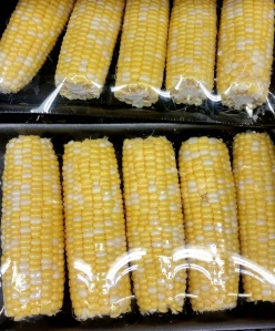 White yellow sweet corn mix