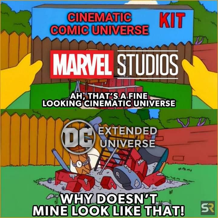 Memes marvel vs dc movie universe