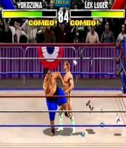 Yokozuna vs lex luger WWF WrestleMania arcade game Midway