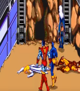 Emma frost boss battle X-Men Arcade Konami
