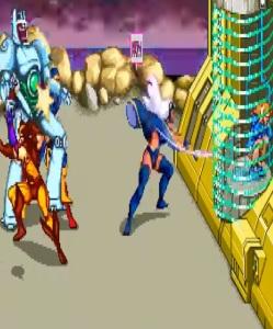 Storm and Wolverine X-Men Arcade Konami