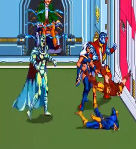 Fake magneto boss battle X-Men Arcade Konami