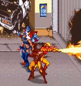 Colossus storm Wolverine X-Men Arcade Konami