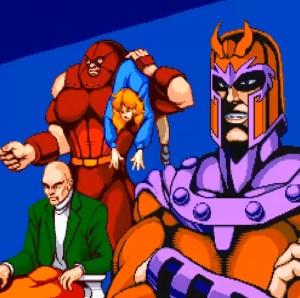 Magneto and juggernaut kidnap Charles Xavier X-Men Arcade Konami