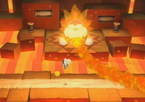 Boss battle Yoshi's Woolly World WiiU Nintendo