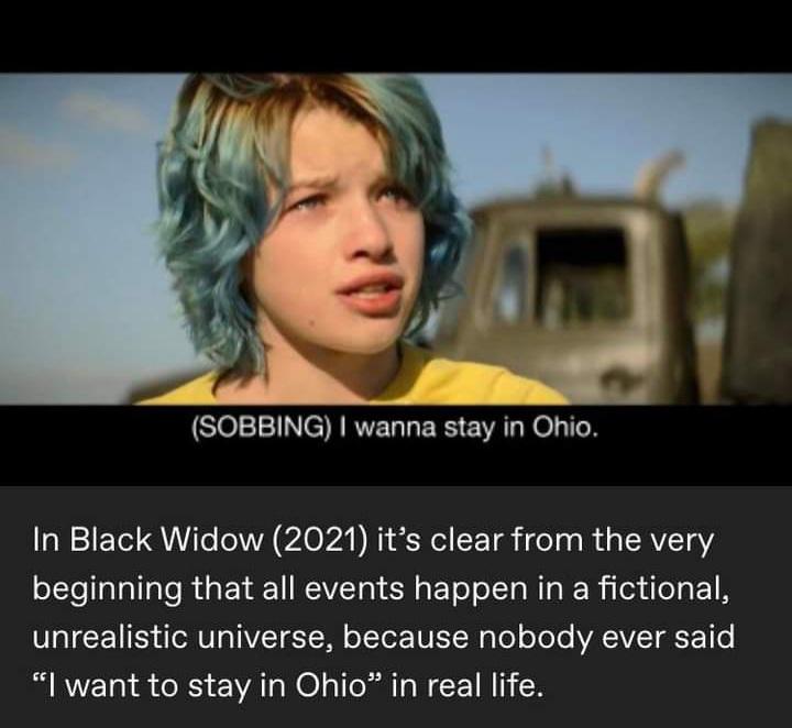 Memes black widow mcu Ohio