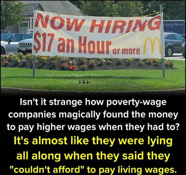 Memes McDonald's living wage