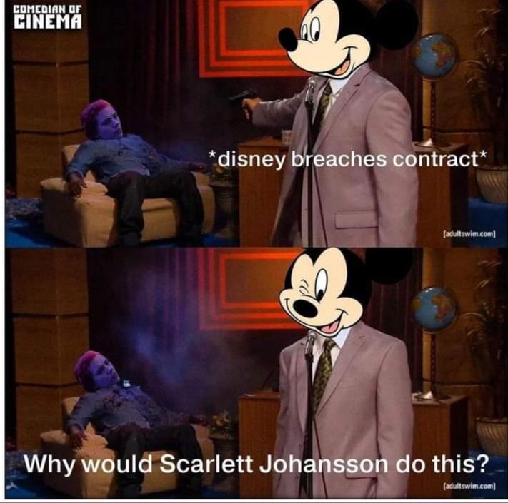 Memes Scarlett Johansson suing disney