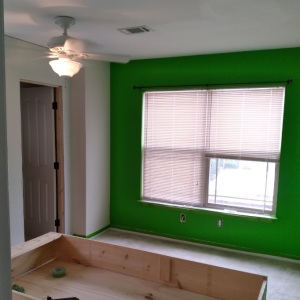 Painting over lime green walls