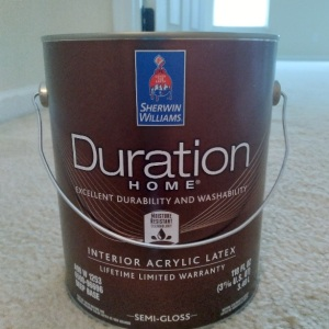 Sherwin wiilaims duration home interior paint water based