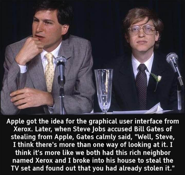 Memes Steve Jobs Bill Gates xerox