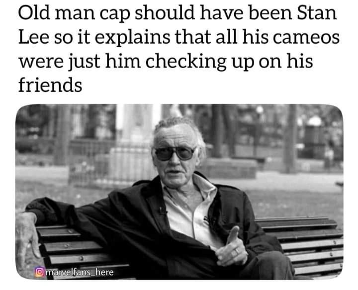 Memes stan lee old captain America