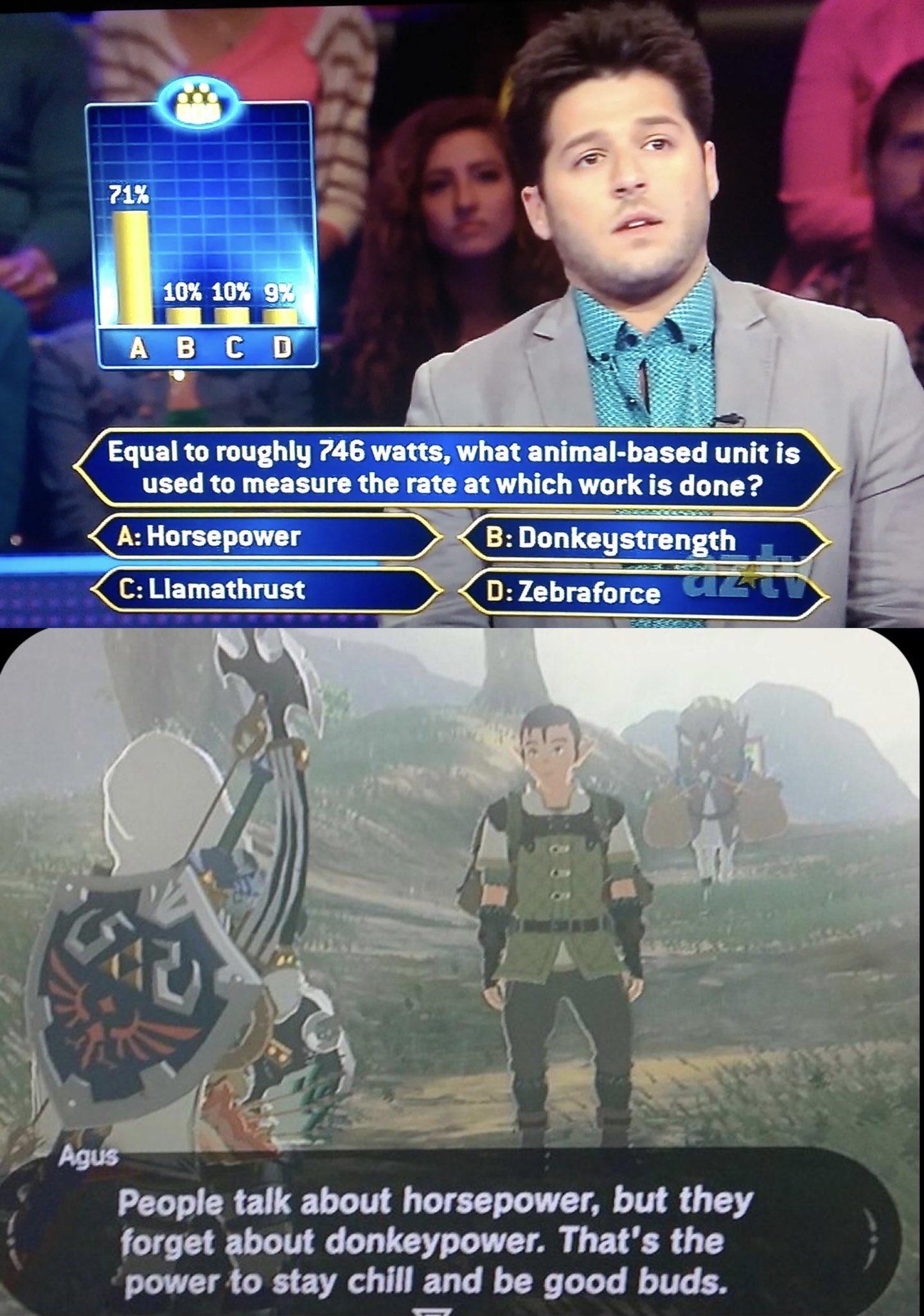 Memes donkey power the Legend of Zelda breath of the wild