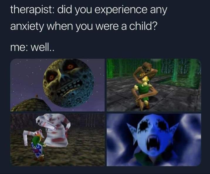 Memes scary moments zelda Nintendo 64