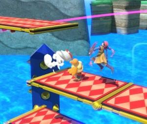 Isabelle vs hero 3D Land stage super Smash Bros ultimate Nintendo Switch